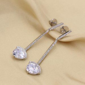 Henri Bendel Zircon Water Drop Crystal Earrings